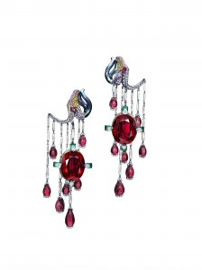 Wallace Chan - Biennale Piece_Earrings_Vermillion Veil