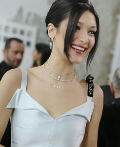BELLA HADID EN MESSIKA MARS 2017 « Dior Makeup muse party » à Paris