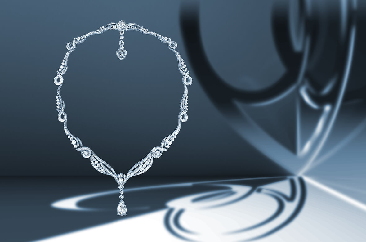 Collection DECLARATION Collier Serment or blanc et diamants